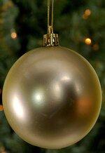 80MM MATT PLASTIC BALL GOLD BX/6