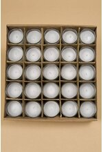 VOTIVE CANDLE IN GLASS CLEAR PKG/25
