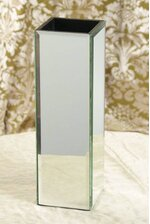 "4"" X 4"" X 12"" MIRROR CONTAINER BOX"
