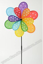 """16"""" FABRIC DOUBLE DOTTED PIN-WHEEL MULTI-COLOR"""
