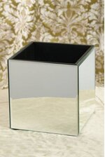 "7"" CUBE MIRROR CONTAINER BOX"