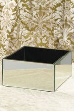 "8"" X 8"" X 4"" MIRROR CONTAINER BOX"
