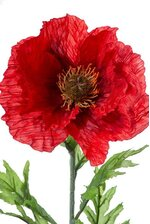 "28"" SILK POPPY SPRAY RED"