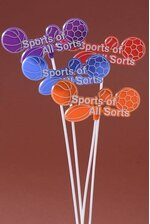 "11"" SPORTS STICKS ASSORTED PKG/24"