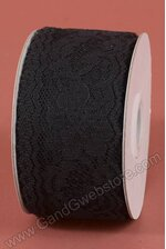 "2"" X 25YDS LACE TAPE BLACK"