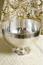 "10"" X 7"" ROUND REVERE BOWL SILVER"
