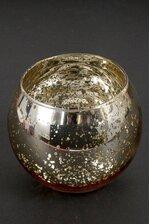 """3.5"""" MERCURY CANDLE HOLDER GOLD"""