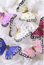 """2"""" DECORATIVE FEATHER BUTTERFLY ASSORTED PKG/12"""