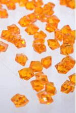 SMALL ACRYLIC CUBE ORANGE PKG/1LB