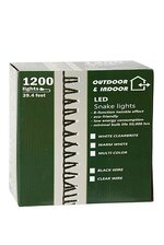 39.4FT LED LIGHT SET BLACK WIRE WARM WHITE