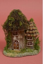 """7"""" X 8.5"""" NATURAL HOUSE THISTLE ROOF GREEN/BROWN"""
