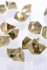 LARGE METALLIC STONES GOLD PKG/1LB