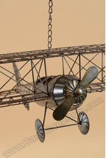 "25"" X 22"" X 8"" METAL AIRPLANE BROWN"