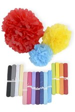 "10"" TISSUE PAPER POM POM FLOWER BALL"