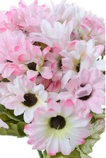 "9"" SILK MINI DAISY BUSH PINK"