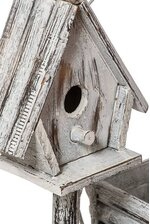 "13.75"" WOOD BIRDHOUSE WHITE"