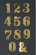 "1.5"" LARGE PAPER NUMBER GOLD PKG/25"