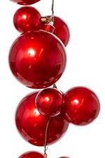 6FT BALL GARLAND RED