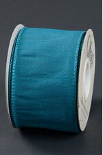 "2.5"" X 10YDS WIRED ANISHA RIBBON DEEP TEAL"