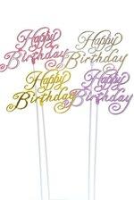 """9"""" HAPPY BIRTHDAY STICKS MULTI PKG/12"""