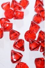 "0.75"" ACRYLIC DROP RED PKG/1LB (APPROX. 100)"