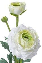"15"" SILK RANUCULUS SPRAY W/BUD WHITE/GREEN"