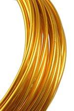 3MM X 10YDS ALUMINIUM WIRE GOLD