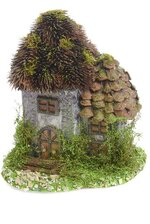 """8"""" X 6.75"""" DECORATIVE HOUSE W/BIRCH ROOF NATURAL"""