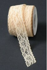 "1"" X 25YDS LACE RIBBON IVORY"