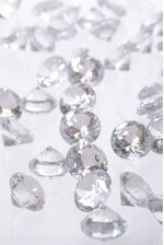 20MM ACRYLIC DIAMOND CLEAR PKG/1LB