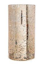 """4"""" X 8"""" MERCURY GLASS CYLINDER VASE GOLD"""
