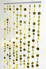 "36"" x 72"" PVC CURTAIN GOLD"