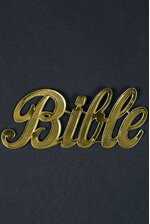"1.75"" LARGE PAPER ""BIBLE"" GOLD PKG/10"