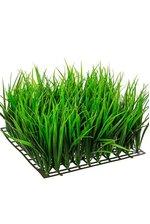 """6"""" PLASTIC WHEAT GRASS MAT GREEN"""