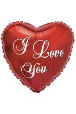 "17"" I LOVE YOU SCRIPT HEART BALLOON RED PKG/10"