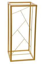 """23.75"""" SQUARE METAL STAND GOLD"""
