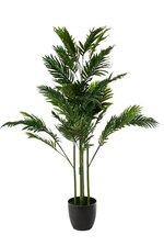 4.5FT SILK ARECA PALM IN PLASTIC POT GREEN