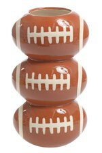 "5"" X 9"" STACK FOOTBALL POTTERY VASE"