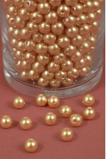8MM ABS PEARL BEADS GOLD PKG(500g)