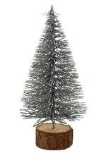 "5.5""H XMAS TREE W/GLITTER SILVER"