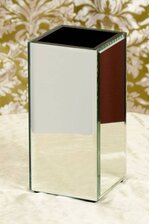 "4"" X 4"" X 8"" MIRROR CONTAINER BOX"