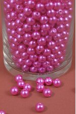 10MM ABS PEARL BEADS HOT PINK PKG(500g)