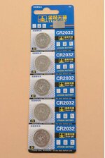 CR2032 COIN BATTERIES PKG/5