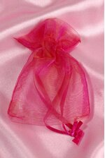 3'' X 4'' SHEER POUCHES BAG IRIDESCENT PINK PKG/12