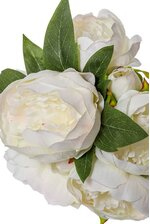 """12"""" PEONY BOUQUET WHITE/PINK"""