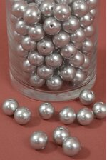 16MM ABS PEARL BEADS SILVER PKG(500g)