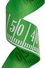 "1.5""x 20YDS GOAL LINE RIBBON GREEN"