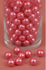 16MM ABS PEARL BEADS RED PKG(500g)