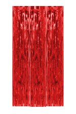 "39"" X 6.5FT GLEAM'N CURTAIN RED"