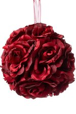 "5"" ROSE KISSING BALL RED"